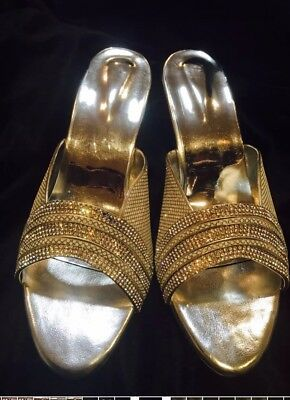 D1 Size 5 Ladies Indian Bollywood Casual Shoes Heels Sandals Slip Ons Silver