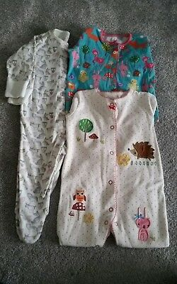 Bundle of NEXT baby girls sleepsuits x3. Size 3-6 months