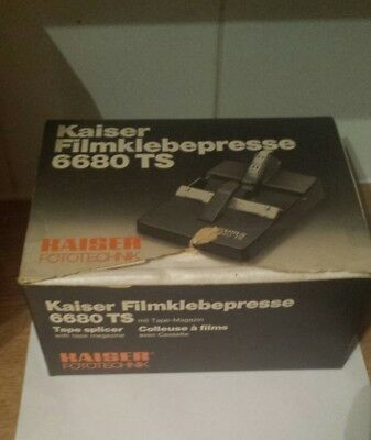 Cine film splicer KAISER FOTOTECHNIK 8 mm  6680 TS excellent condition Boxed