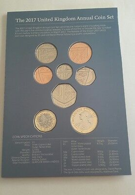 2017 Royal Mint Brilliant Uncirculated Definitive 8 Coin Set ~ with £1 pound #1