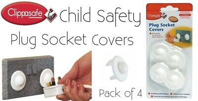 Plug Socket Covers By Clippasafe Child Safety 4pack Brand New Free Delivery