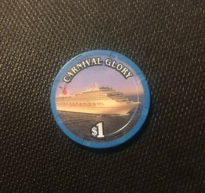 Carnival Glory $1 Camel Club Casino Poker chip Cruise line chip