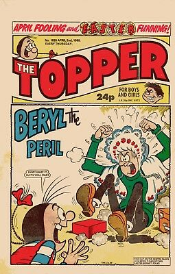 """""""The Topper"""" Comic Issue No.1835 April 2nd 1988"""