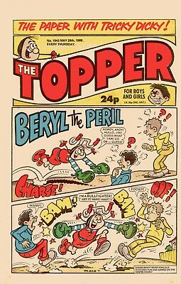 """""""The Topper"""" Comic Issue No.1843 May 28th 1988"""