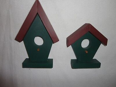 Home Interiors 2pc Set Wood '' Birdhouses  '' Wall Accent
