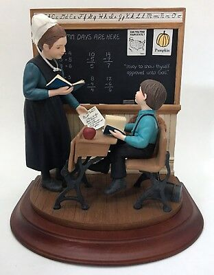 Amish Heritage Collection Willitts School Days Classroom 1st Issue Ltd Figurine