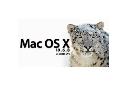 Mac OS X 10.6 Snow Leopard - Bootable DVD for Fresh Installs, Repair or Recovery