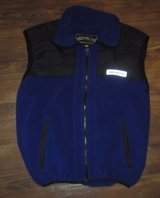 Obermeyer Polartec Mens Fleece Ski Vest, Blue, Polyester, Size S, EUC