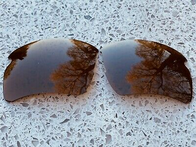 Engraved Polarized Amber Brown Replacement Oakley Flak Jacket 2.0 Xl Lenses
