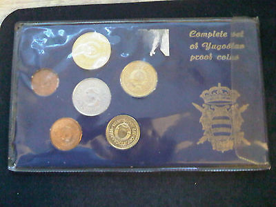 YUGOSLAVIA  Proof Coins - Complete set.