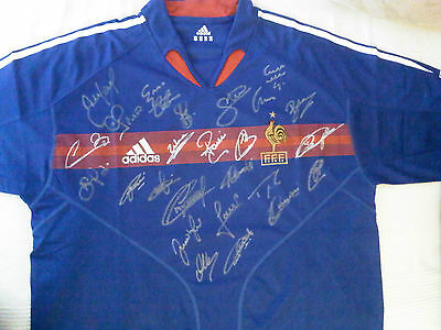 Signed FRANCE LEGENDS 2004 HOME FOOTBALL SHIRT
