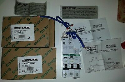 NEW 2x boxed RCBO Crabtree Starbreaker and unboxed MCB.