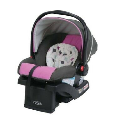 New Pink Graco SnugRide 30 Click Connect Infant Car Seat With Front AdjustBaby