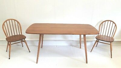 Vintage Mid Century Ercol Blonde Elm 🌳 Beech Dining Table Farmhouse