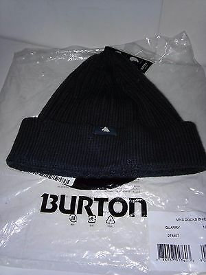 Burton Snowboards Docks Beanie Hat Quarry Grey Brand New