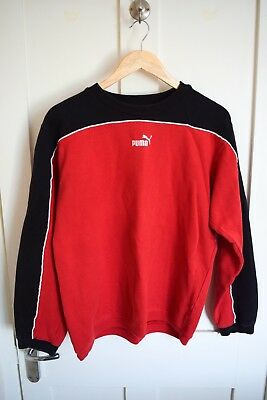 Vintage Puma Sweatshirt Red & Black Medium / Youth XXL