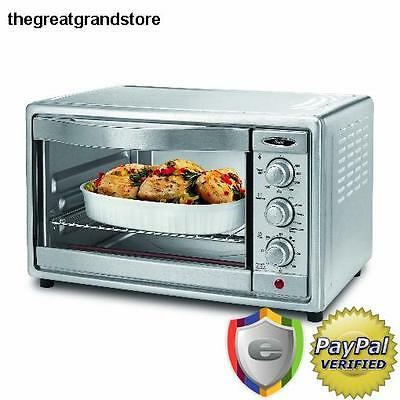 Kitchen Commercial Pizza Oven Brushed Stainless Steel Convection Countertop Home
