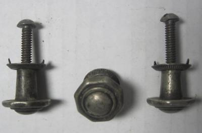 Lot of 3 Antique Phonograph Knobs Vintage Cabinet Pulls Phonograph Parts (#11A)