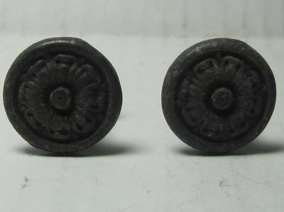 Lot 2 of Antique Phonograph Knobs Vintage Cabinet Pulls Phonograph Parts (#132)