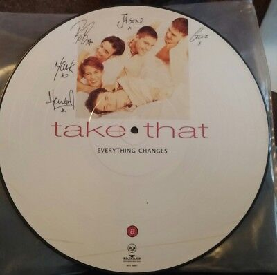 take that everything changes Lp picture disc very rare