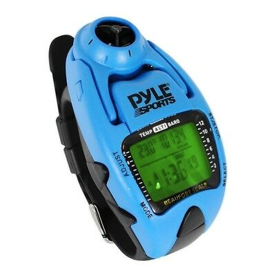 Pyle PSWWM90BL Wind Speed Metre with Wind Chill Temperature (Blue). Brand New
