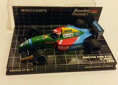 Minichamps 1/43 Benetton Ford B190 N.Piquet 1990