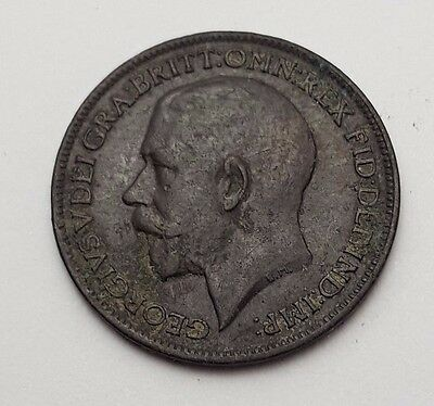 Dated : 1916 - Copper - One Farthing - Coin - King George V - Great Britain
