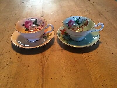 Vintage paragon floral fine bone china Tea Cups And saucers