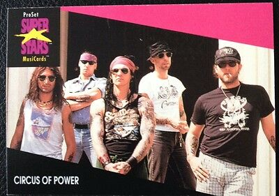 Circus Of Power Proset Superstar Musicards 1St Edition Card Rare Oop