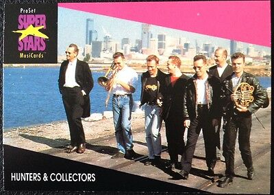 Hunters & Collectors Proset Superstar Musicards 1St Edition Card Rare Oop