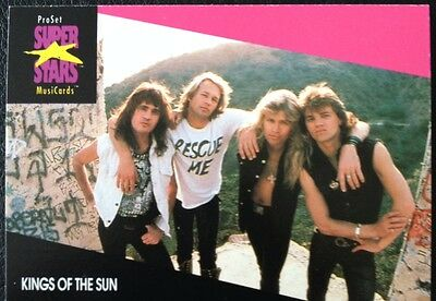 Kings Of The Sun Proset Superstar Musicards 1St Edition Card Rare Oop