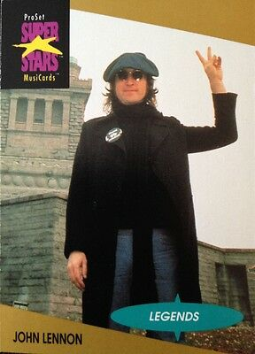 John Lennon Proset Superstar Musicards 1St Edition Card Rare Oop (1991)