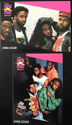 Living Colour Proset Superstar Musicards 1St Edition 2 Cards Rare Oop