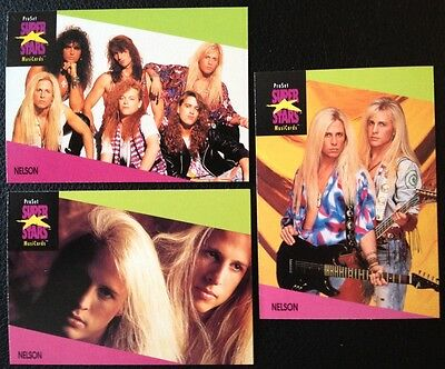 Nelson Proset Superstar Musicards 1St Edition 3 Cards Set  Rare Oop