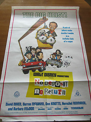 No Deposit, No Return - 1976 - Orig Australian 1 sheet Poster