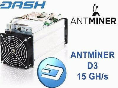 ANTMINER D3 - 15GH/s DASH - NOW $2835 - USA VERIFIED SELLER - FREE PSU INCLUDED!
