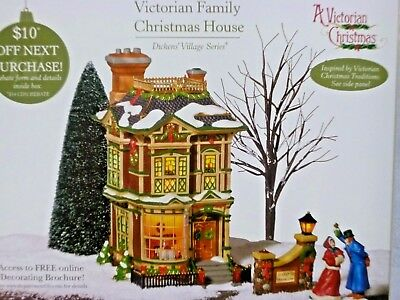 Dept 56 Dickens Village Victorian Family Christmas House