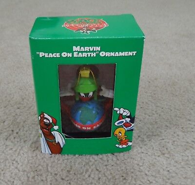 """WARNER BROS LOONEY TUNES Marvin The Martian """"PEACE ON EARTH"""" Christmas Ornament"""