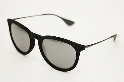 39a89d72a6d Ray-Ban RB 4171 Erika sunglasses 6075 6G Velvet Black Gray Silver Mirror (