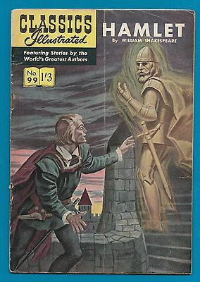 Classics Illustrated Comic # 99  Hamlet  by  William Shakespeare  #831