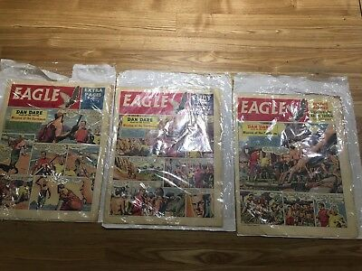 Eagle Comics 1960 x 3 Good Condition