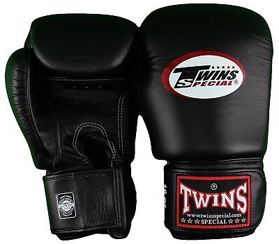Twins Muay Thai MMA Boxing Leather Training Gloves BGVL- 3 Black