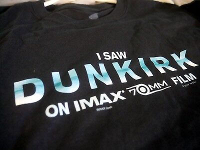 I Saw Dunkirk on IMAX 70mm Film Rare, Promotional T-Shirt