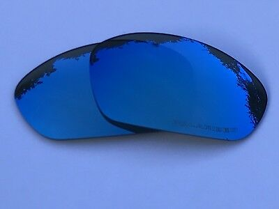 Etched Polarized Blue Mirror Replacement Oakley Straight Jacket 2007+ Lenses