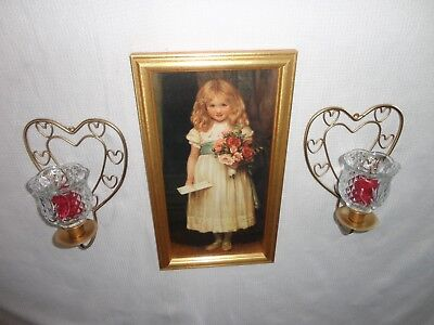 4 Your Home Interiors '' Love Letters'' Picture  &  Sconces  7pc Gorgeous