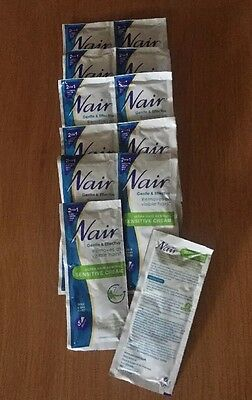 12 X 30ml Nair Ultra Hair Removal Sensitive Cream Sachets - New