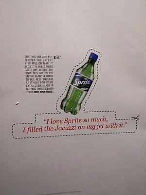 1997 Sprite Jacuzzi Filled With Sprite Original Print Ad 8.5 x 10.5""