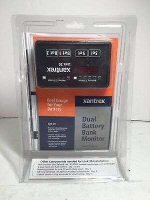 New !! Xantrex Link 20 Dual Battery Bank Monitor! Fast Shipping!!!