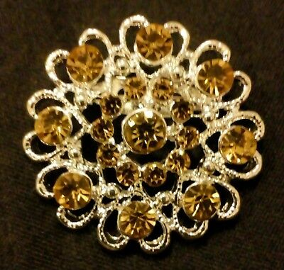 Equestrian stock pin gold diamante