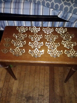 keeler brass co/ vintage drawer drop pull ornate handles/#N19353/N1935/N19164